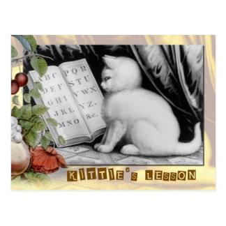 Kittie's ABC lesson Postcard