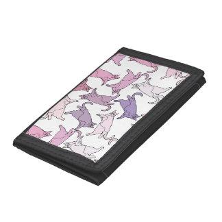 Kitties everywhere! tri-fold wallets