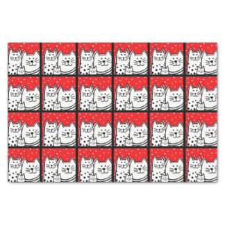 Kitties In Red Tissue Paper
