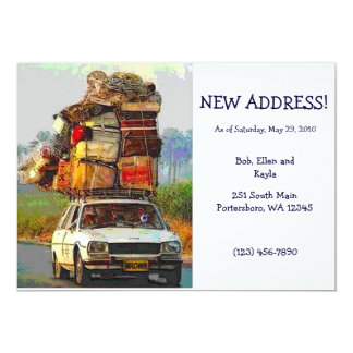 Kitties on the Move Address Change Card Template 13 Cm X 18 Cm Invitation Card