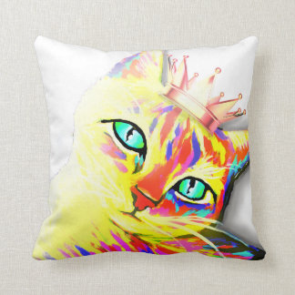 Kitties Rule Throw Pillow