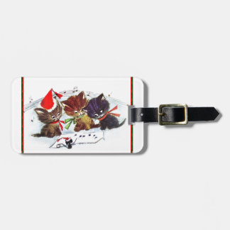 Kitties with Maestro Mouse Bag Tag