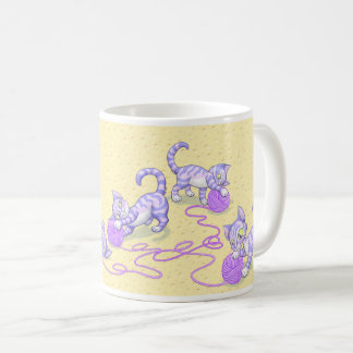 Kittipurra Purple on Cheese Coffee Mug