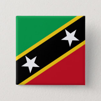 Kitts and Nevis Flag 15 Cm Square Badge