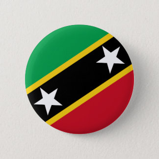 Kitts and Nevis Flag 6 Cm Round Badge