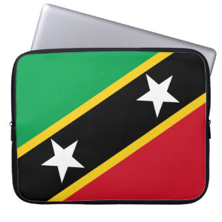 Kitts and Nevis Flag Laptop Sleeve