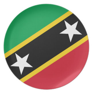 Kitts and Nevis Flag Plate