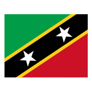 Kitts and Nevis Flag Postcard