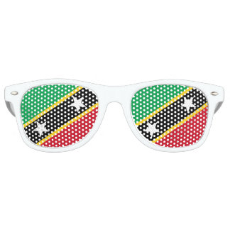 Kitts and Nevis Flag Retro Sunglasses