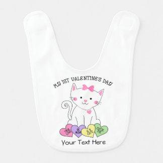 Kitty 1st Valentine's Day Baby Bib