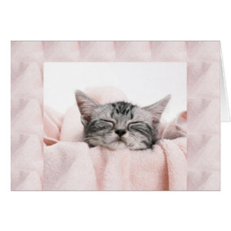 Kitty and blanket card
