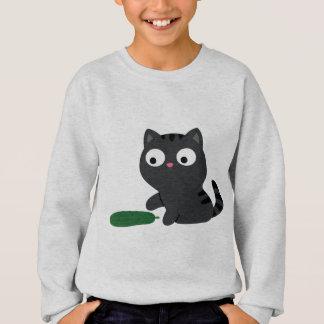 Kitty and Cucumber Illustration Sweatshirt