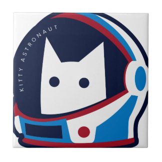Kitty Astronaut Small Square Tile