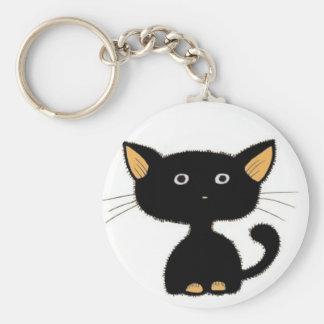 kitty basic round button key ring