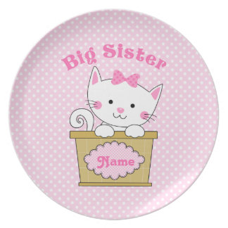 Kitty Big Sister Party Plate