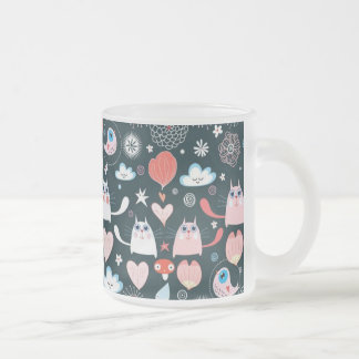 Kitty Birdie Cloud Hearts Coffee Mug Cup