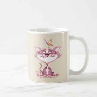 Kitty & Butterfly Coffee Mug