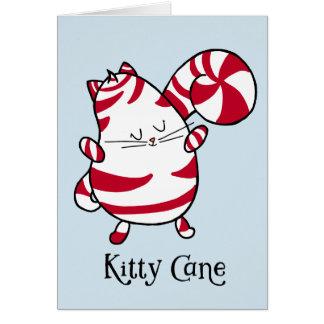 Kitty Cane Candy Cane Christmas Blank Inside Card