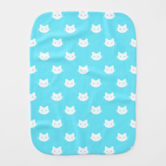 Kitty Cat Blue Burp Cloth