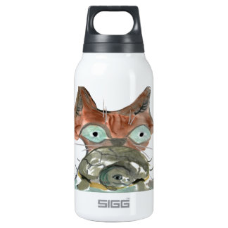 Kitty Cat Clutches his Turtle Pal Insulated Water Bottle