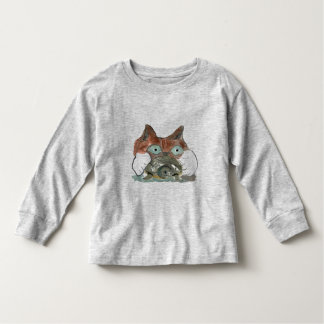 Kitty Cat Clutches his Turtle Pal Toddler T-Shirt
