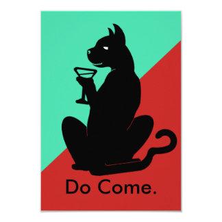 KITTY CAT COCKTAIL 2 TONE by Slipperywindow Card