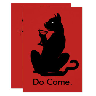 KITTY CAT COCKTAIL by Slipperywindow Card