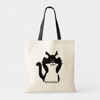 Kitty Cat Covering Ears Budget Tote Bag