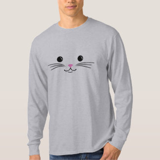 Kitty Cat Cute Animal Face Design T-Shirt