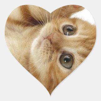Kitty Cat Cute Item Heart Sticker