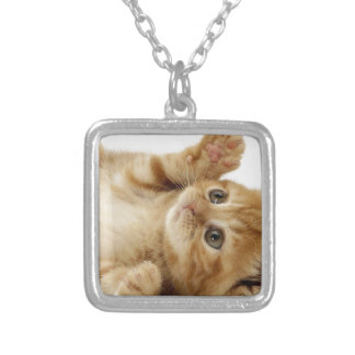 Kitty Cat Cute Item Silver Plated Necklace