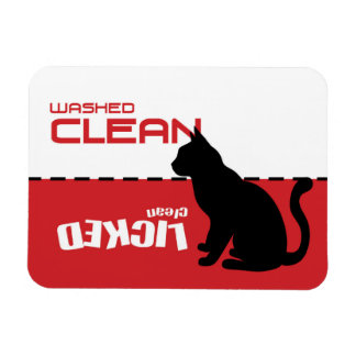 Kitty Cat Dishwasher Magnet - Licked Clean