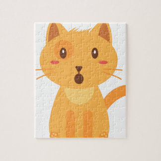 Kitty Cat Expressions Face Shirt Jigsaw Puzzle