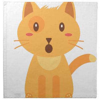 Kitty Cat Expressions Face Shirt Napkin
