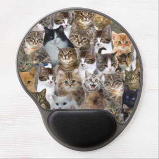 Kitty Cat Faces Pattern Gel Mouse Pad