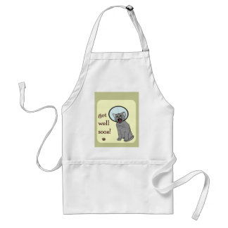 Kitty Cat Get Well Soon Standard Apron