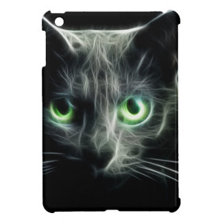Kitty cat glowing green eyes case for the iPad mini