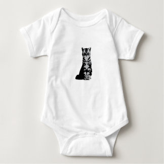 Kitty cat grey baby bodysuit
