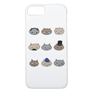 Kitty Cat Heads Glasses Hats iPhone 8/7 Case