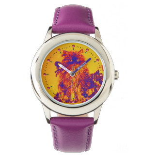 KITTY CAT / KITTEN WITH ROSES Purple Blue Orange Watches
