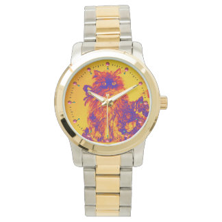 KITTY CAT / KITTEN WITH ROSES Purple Blue Orange Wrist Watches
