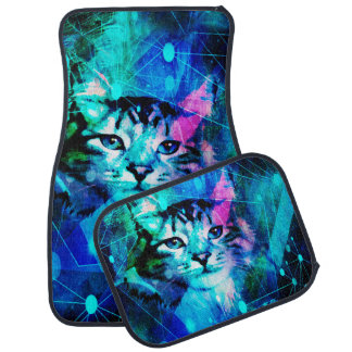 Kitty Cat Laser Lights at the Aleurorave Car Mat