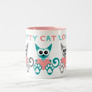 Kitty Cat Love 2 Toned Mug