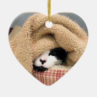 Kitty Cat Love-Brooklyn Ceramic Heart Decoration