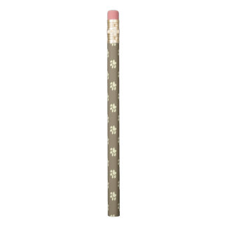 Kitty Cat Love Paw Print Pencil | Brown