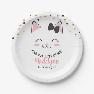 Kitty Cat Paper Plates