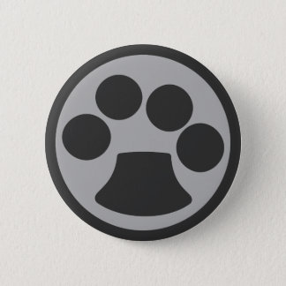 Kitty Cat Paw Print 6 Cm Round Badge