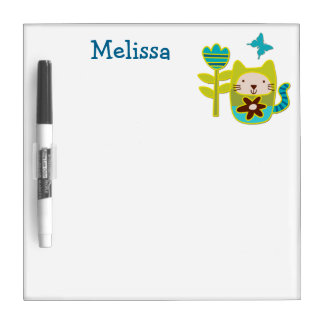 Kitty Cat Personalized Kids Dry-Erase Board