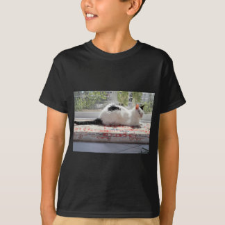 Kitty Cat Relaxing in a Sunny Window T-Shirt