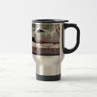 Kitty Cat Relaxing in a Sunny Window Travel Mug
